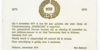Zang- en Toneelvereniging Harmonie Welsum 140 jaar // 1879 – 2019